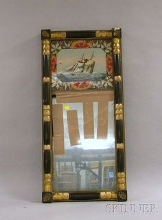 Federal Giltwood and Part-ebonized Split-baluster Mirror with Reverse-painted Glass Tablet Depicting a Sailing ...http://www.artfact.com/a