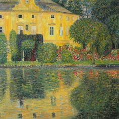 Gustav Klimt Schloss Kammer Sull'Attersee painting for sale - Gustav Klimt Schloss Kammer Sull'Attersee is handmade art reproduction; You can shop Gustav Klimt Schloss Kammer Sull'Attersee painting on canvas or frame. Gustav Klimt, Art Klimt, Kandinsky, Art Nouveau, Vienna Secession, Oil Painting Reproductions, Art Graphique, Claude Monet, Oeuvre D'art