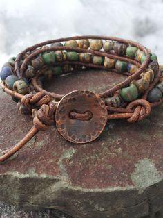 triple wrap bracelet by offbeadinpathneosho on Etsy, $42.00