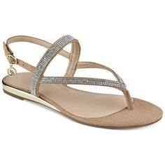 2baf12290e Guess Women's Jabel Flat Sandals ($69) ❤ liked on Polyvore featuring shoes,  sandals