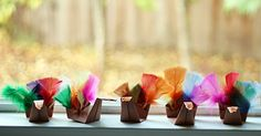 origami turkeys ~ Let's Explore