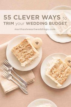 55 Clever Ways to Trim Your Wedding Budget | Martha Stewart Weddings - When planning a wedding on a budget, sometimes it can be overwhelming to look at the big picture. Instead, start with these small ways to save money on the big day. Not only will our simple wedding budget tips and tricks help you cut planning costs, but they'll add up to one unforgettable celebration. Who says weddings can't be amazing and affordable? #budgetwedding #planawedding #weddingtips