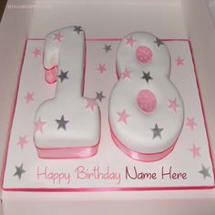 Special Birthday Name Write Age Cakes Pictures Heart Birthday Cake, Birthday Cake Writing, Birthday Cake For Husband, Beautiful Birthday Cakes, 18th Birthday Cake, Birthday Name, Special Birthday, Happy Birthday Wishes Pics, Facebook Birthday Wishes