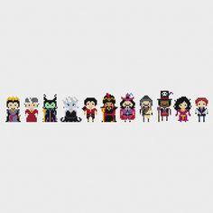 Disney Princess Villains Minis Cross Stitch by pixelsinstitches