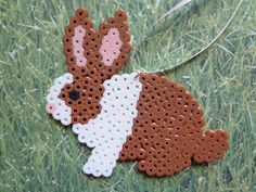 Dutch Bunny Rabbit Perler Bead Ornament by 4BunniesBeading on Etsy