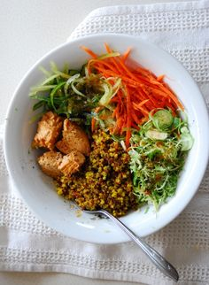 ginger-lime tuna with coconut quinoa