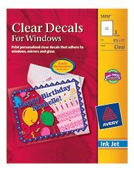 Clear cling labels