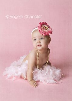 baby girl 6 month photo shoot ideas | This kind of shot is important to me b/c it just shows HER…no props ...
