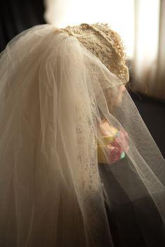 Vintage 70s wedding veil by tangerinerokprinces on Etsy, $25.00
