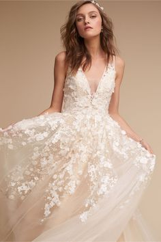 floral apliques | Ariane Gown from BHLDN