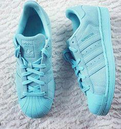 Adidas superstar in aqua