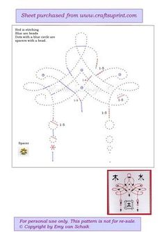 ED070 Ori ntal on Craftsuprint designed by Emy van Schaik - Stitching with beads - Now available for download!