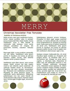 Create a Custom Christmas Letter With These Free Templates: Word Draw's Free Christmas Letter Templates