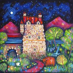 Auld Highland Hoose by Scottish Contemporary Artist Ritchie COLLINS