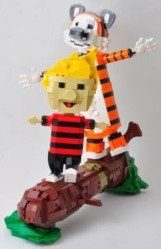 Calvin and Hobbes in Lego is just perfect