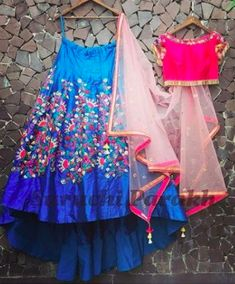 indian fashion Lengha -- CLICK VISIT link above for more options Indian Dresses For Girls, Wedding Dresses For Kids, Wedding With Kids, Indian Outfits, Half Saree Lehenga, Lehenga Style, Indian Lehenga, Ethnic Fashion, Indian Fashion