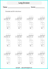 Solve the 2 digit long division problem and use your basic division skills. Great grade 3 or 4 tail division worksheet for math students who are introduced to long division. Math Tutor, Math Teacher, Math Classroom, 3rd Grade Spelling Words, Division Worksheet, Grade 6 Math Worksheets, Math Enrichment, Long Division, Singapore Math