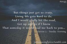 Sunday Morning - Maroon 5 Beautifully written lyrics