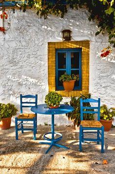 Greek Taverna Canvas print by Jim kernan Kos, Greece Mykonos, Santorini, Beautiful World, Beautiful Places, Beautiful Dream, Greek House, Small Restaurants, Greek Culture, Inspiration Design