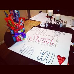 """my Sadie's asking! """" Sadie's would be 'sweet' with you"""" and made a diy candy bouquet! Dance Proposal, Homecoming Proposal, High School Dance, School Dances, Sadies Dance, Sadie Hawkins Dance, Asking To Prom, Candy Bouquet Diy, Hoco Proposals"""