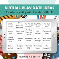 When kids can't meet up with their friends, here are some games to play on Facetime with friends, to make a virtual play date more fun! Virtual Games For Kids, Games To Play With Kids, Virtual Class, Games For Girls, Activities For Kids, Games To Play Outside, Kids Fun, Charades Game, Charades For Kids