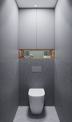 Interior Design Toilet, Bathroom Design Luxury, Toilet Design, Bathroom Design Small, Grey Bathroom Floor, Laundry Room Bathroom, Bathroom Layout, Modern Bathroom, Wc Design