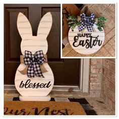 Bunny Crafts, Easter Crafts, Diy Easter Decorations, Easter Centerpiece, Thanksgiving Decorations, Easter Projects, Easter Wreaths, Spring Crafts, Door Wreath