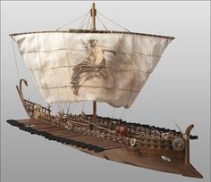 Hellenic Foundation for Culture - News & Events - A photo of one of the model/miniature ships built by Evangelos Grypiotis.