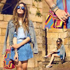 Jaqueta Jeans + Vestido azul