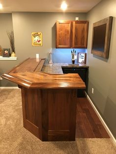 Finished Bar Photo Gallery - Bar Rails & Parts