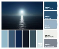 "From 3.27.13 ""Setting blues"" Design Seeds to paint colors from Chip It! by Sherwin-Williams"