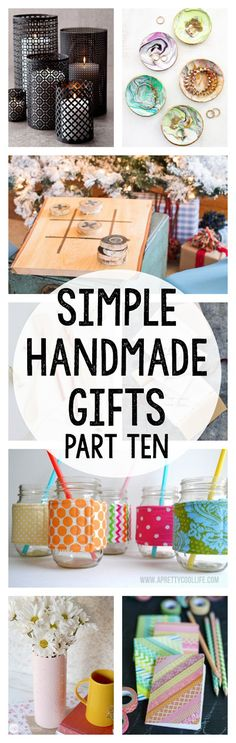 MORE handmade gift ideas! There's something for everyone :-)