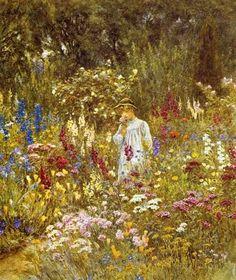Summer's Walk ~ Helen Allingham ~ (English 1848-1926)