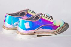Miista Shoes Zoe in Holographic Opal   Thrifted & Modern
