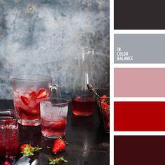 алый, бордовый, зимняя палитра, клубничный цвет, коралловый, кремовый, малиновый, нежный розовый, оттенки красного, оттенки серого, стальной, цвет клубничного коктейля, цвет мякоти клубники, цвет ягод клубники, цвета зимы, черный и красный,