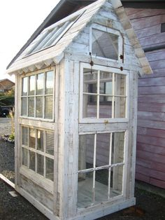 Build beautiful greenhouses from old windows / shed design shed diy shed ideas shed organization shed plans