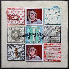Layout: Enjoying Eight by Lisa Dickinson for Jenni Bowlin Studio