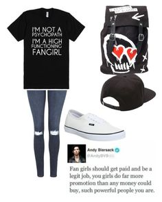 """Fangirl- quick set"" by bands-music ❤ liked on Polyvore featuring Topshop and Vans"