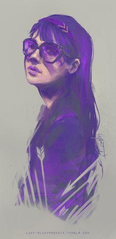 Kate Bishop. My purple lady.