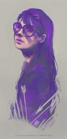 Kate Bishop. My purple lady.