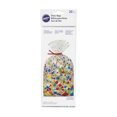 WILTON PARTY BAG CONFETTI PATTERN 20 PACK