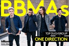 Congratulations ONE DIRECTION for winning Top Duo/Group at the Billboard Music Awards.