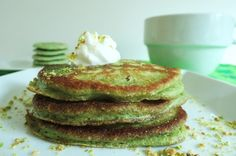 Pistachio Pancakes via http://newsmix.me