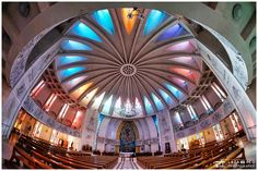 Catholic cathedral interior architecture - This is a Catholic cathedral from city of Iasi, Romania.