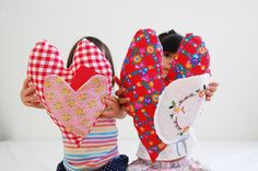 Heart pocket pillows, activity days project?