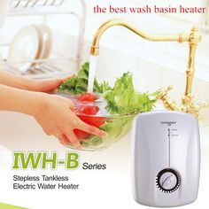Electric Instantaneous Heating Hot Water Heater Tap Tankless Sink Faucet Shower can be installed at Any hot water needed place