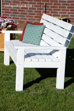 2x4 Wood Projects The Creative Mom (bench)