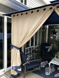Outdoor Curtains For Patio, Gazebo Curtains, Diy Gazebo, Hot Tub Gazebo, Backyard Pergola, Grommet Curtains, Pergola Plans, Diy Patio, Pergola Kits
