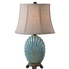 Coastal turquoise lamp