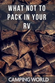 What to pack and NOT pack when you go RVing. #rv #camping